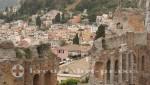Taormina vom Teatro Greco gesehen