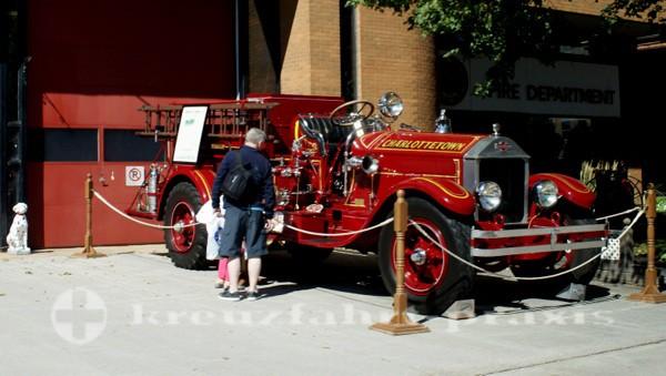 Charlottetown - Prince Edward Island - Historisches Feuerwehrauto