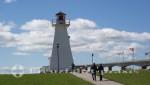 Charlottetown - Prince Edward Island - Leuchtfeuer an der Confederation Bridge