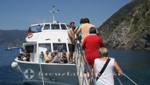 Cinque Terre - scheduled boat at Vernazza