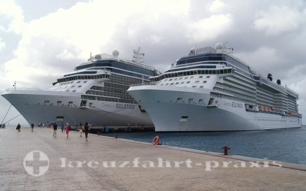 Cozumel - Zwei Kreuzfahrtschiffe