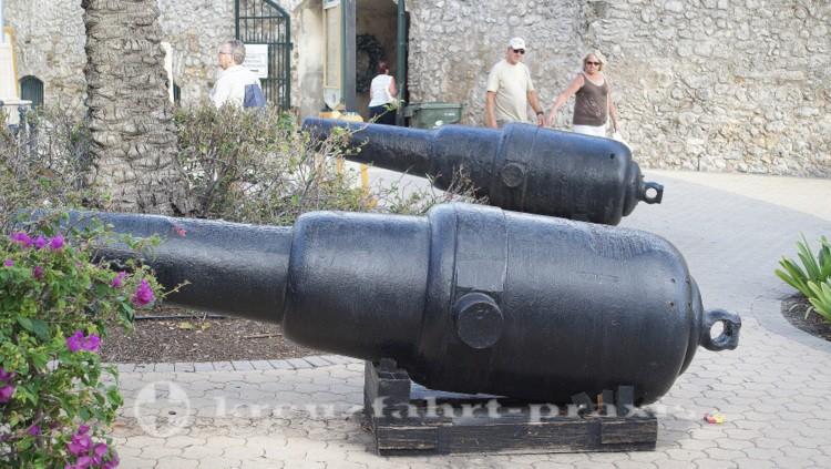 Curacao - Willemstad - Kanonen am Rif Fort