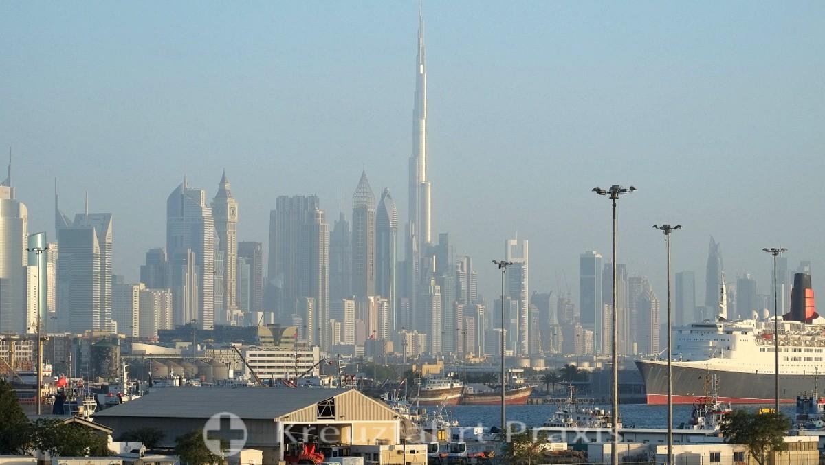 Dubai-City mit dem Burj Khalifa