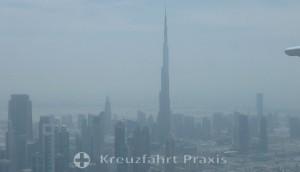 Burj Khalifa vom Seawings-Flugzeug gesehen