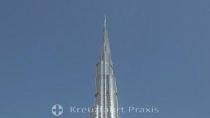 Die Spitze des Burj Khalifa