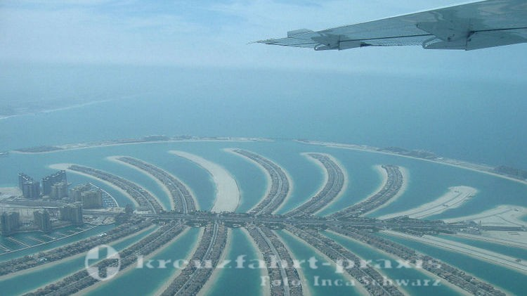 Dubai - Palm Jumeirah vom Flugzeug gesehen