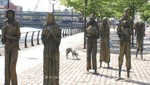 Great Famine-Denkmal am Custom House Quay