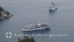 Kreuzfahrtschiffe auf Reede vor Dubrovnik