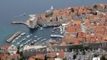 Blick auf Dubrovniks alten Hafen