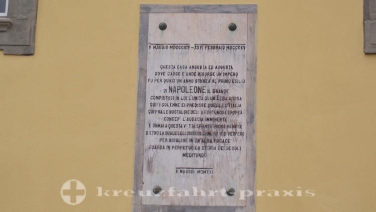 Portoferraio - Erinnerungstafel für Napoleon Il Grande