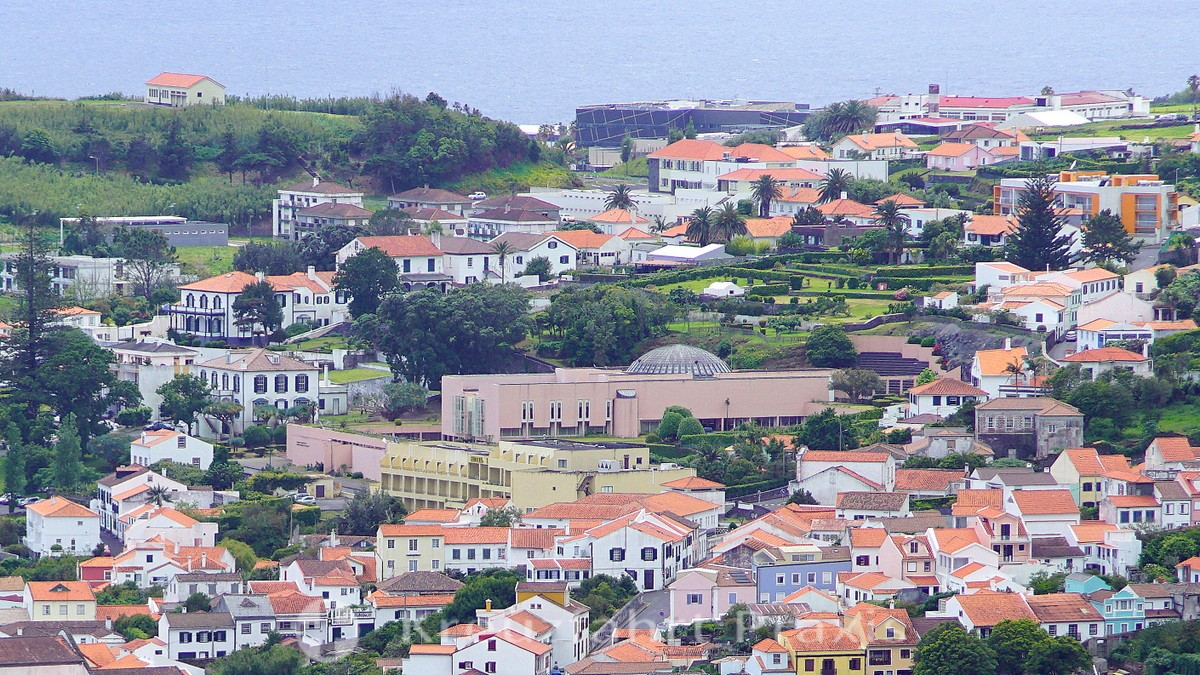 Horta - in the center the Parliament of the Azores