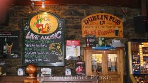 Falmouth - der Dublin Pub - der passende Ort für ein Guiness