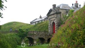Falmouth - das Torhaus von Pendennis Castle