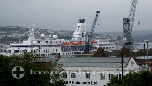 MS Astor im Hafen von Falmouth