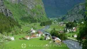 Flåm - idyllic village on the Aurlandsfjord