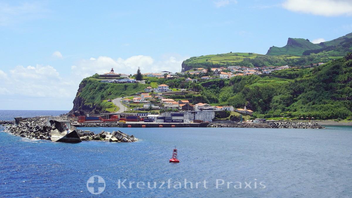 Flores - the port basin of Lajes