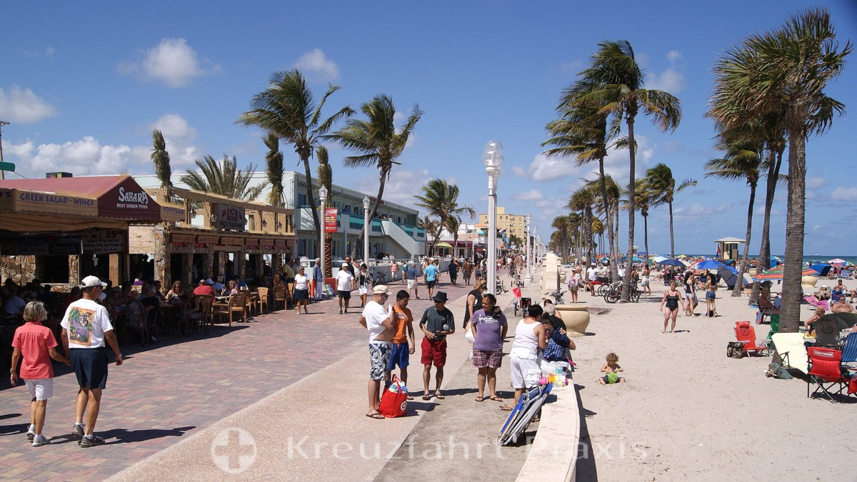 Hollywood Beach - Broadwalk und Strand