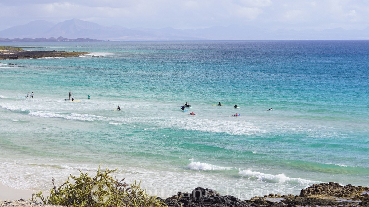 Nationalpark Corralejo - Warten auf die richtige Welle