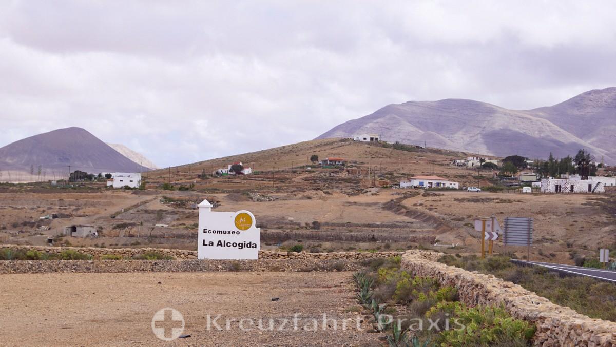 Hinweis auf das Ecomuseo de la Alcogida