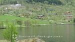Häuser am Eidsvatnet See