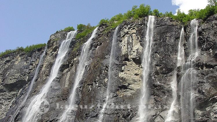 Wasserfall der sieben Schwestern