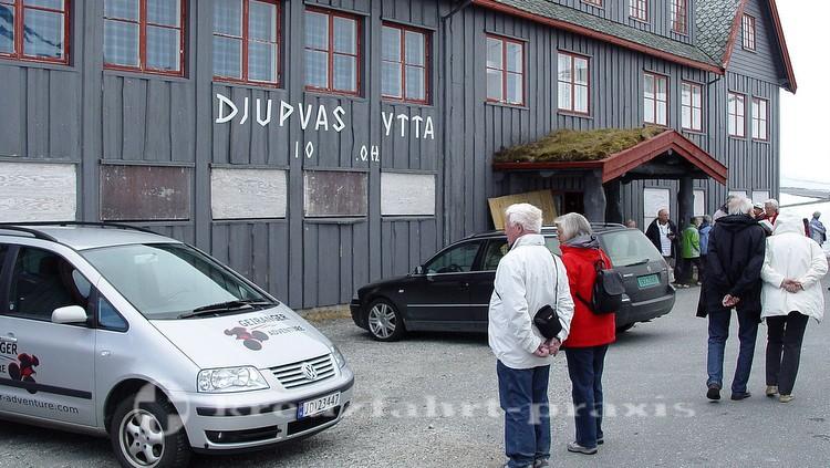 Djupvas-Hütte am Dalsnibba-Pass