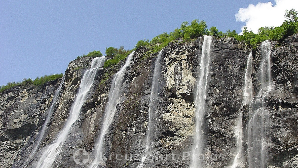 Geirangerfjord - Waterfall of the Seven Sisters