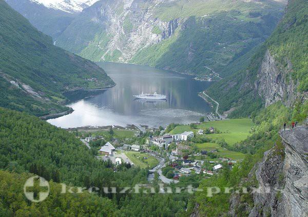 Geiranger - Blick auf den Geirangerfjord
