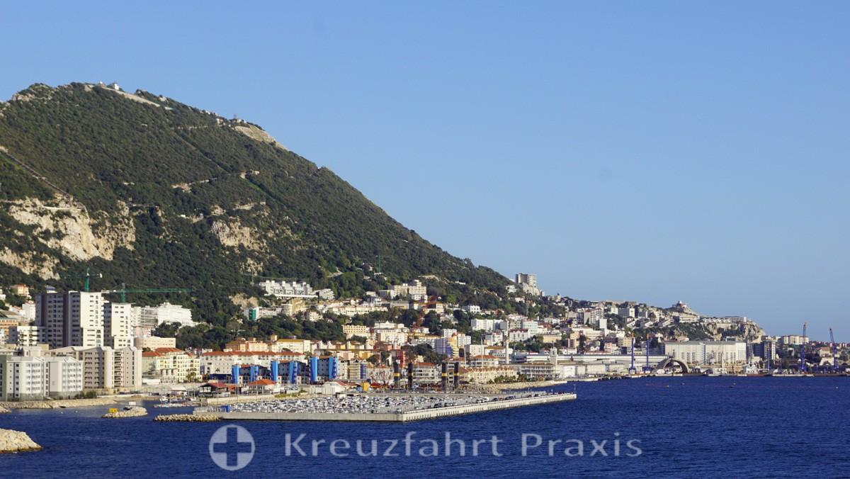 Panorama der Kronkolonie Gibraltar