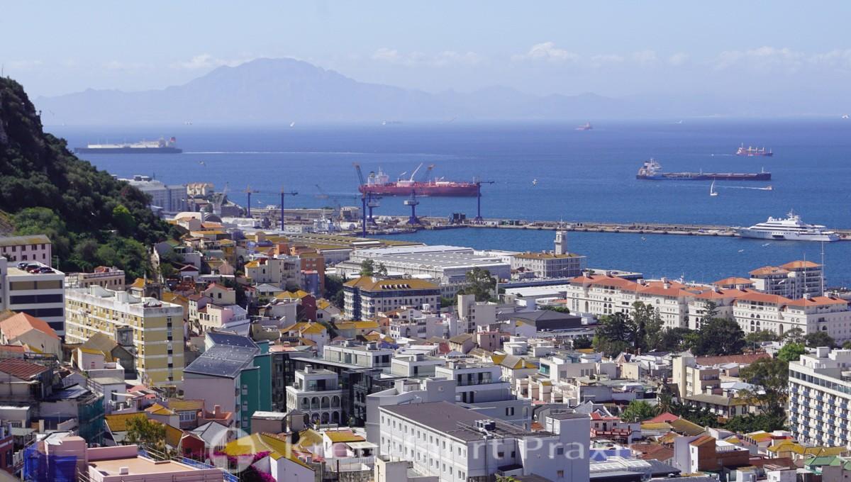 Gibraltar - North Africa ahead