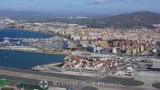 Der an Spanien angrenzende Flughafen von Gibraltar