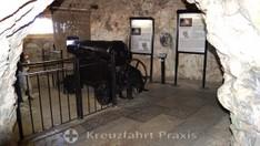 Geschützstand in den Great Siege Tunnels