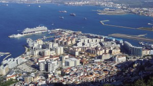 Gibraltar seen from above