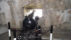 Cannon in the Great Siege Tunnels