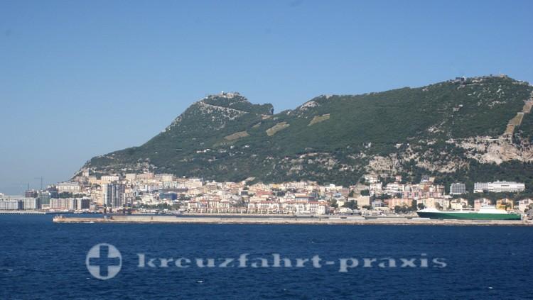 Gibraltar - Von See gesehen