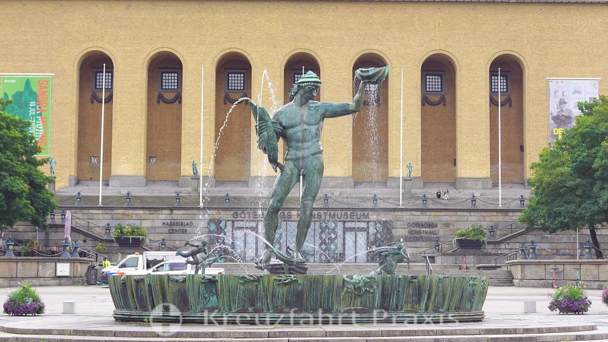 Poseidon fountain on Götaplatsen