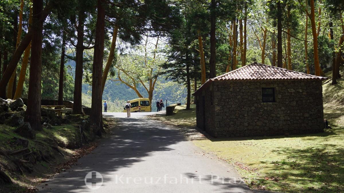 Leisure area in the Caldeira of Graciosa