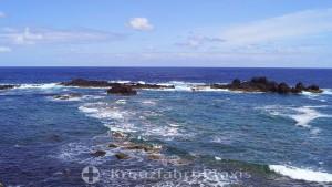 The rocky coast of Ponta da Barca