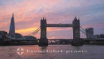 Tower Bridge im Sonnenuntergang