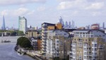 In the background the City of London