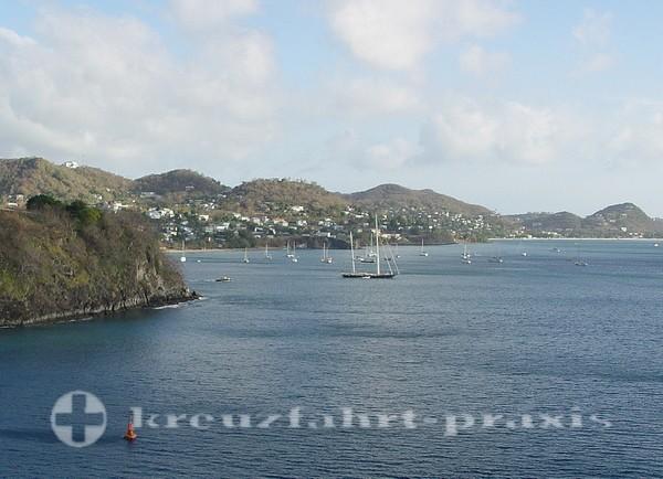 Grenada Küstenlinie