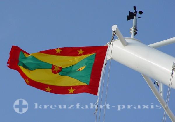 Grenada - Die Flagge mit der Muskatnuss