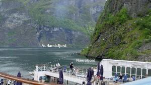 Aurlandsfjord Abzweig Nærøyfjord