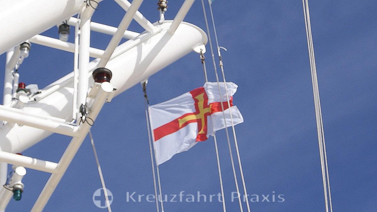 Die Flagge der Vogtei Guernsey