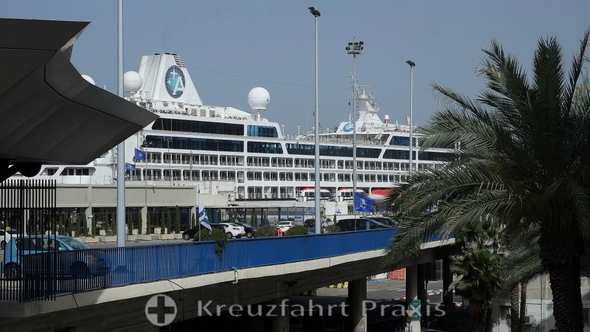 Azamara Quest at the Haifa Cruise Terminal