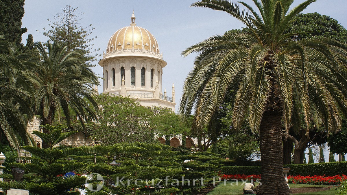 The dome of the Baha'i pilgrimage site