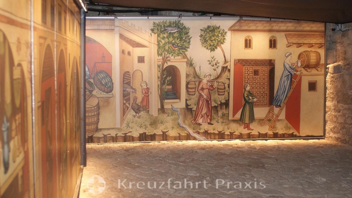 The Eastern Street - fresco paintings