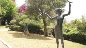 Bronze figures in the Mizpor Shalom sculpture garden