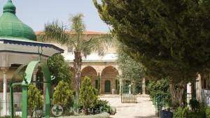 Inner courtyard of the Al Jazzar Mosque