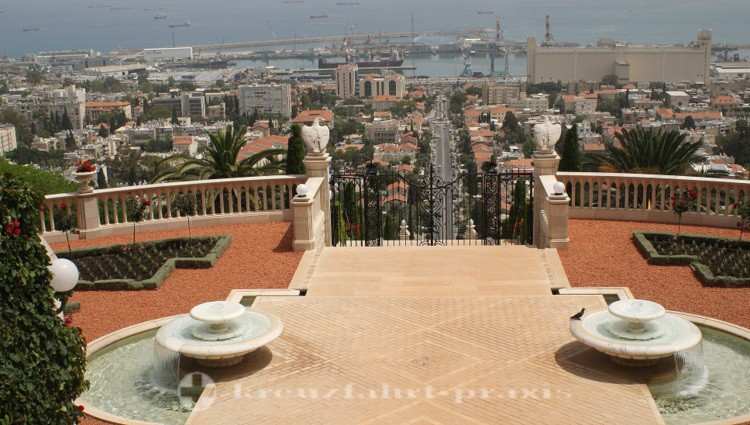 Blick auf Haifas Hafen